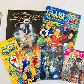 Album antiguo anime halo Doraemon club penguin dragon ball