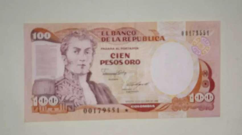 Billete de 100 pesos oro Reposición 0