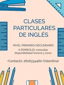 Clases particulares de matemática e Inglés