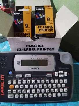 Casio label iti printer con caja de cartuchos