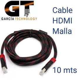 Cable Hdmi 10 Metros Malla