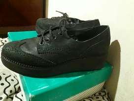 Zapatos de Cuero Viamo N 39, Plataforma