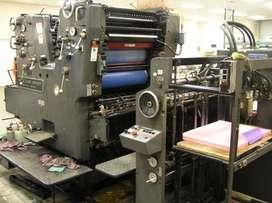 Impresora Heidelberg Sorkz de 2 colores Año 1980