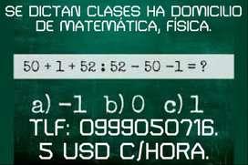 Clases de matemática,física.