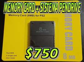 PS2 - MEMORY CARD + SISTEMA USB