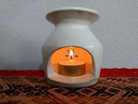 Hornito p/infusiones. De cerámica.