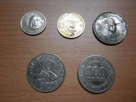 5 monedas antiguas diferentes de soles de oro a solo S/. 10.