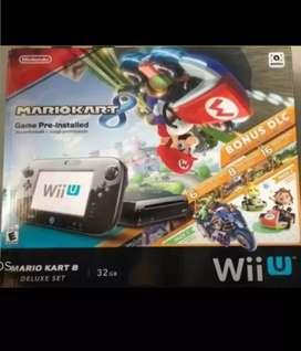 Nintendo WII (U) 32 GB DELUXE versión Mario Kart 8 + Mando PRO Controller + juegos originales