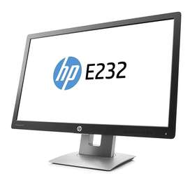 """Monitor HP 23"""" E232 como nuevo muy poco uso"""