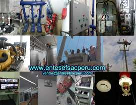 Automatización Mantenimiento Grupos Electrógeno Subestaciones Tableros Puesta a tierra, Sistemas Contra Incendios