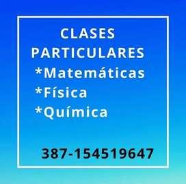 CLASES PARTICULARES y Trabajos Practicos