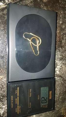 Aretes de oro 2gramos