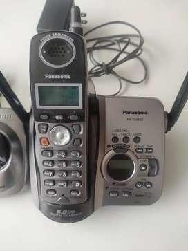 Teléfono Panasonic Inalámbrico 2 uns Contestadora