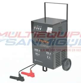 Cargador de batería con arrancador 200A Truper
