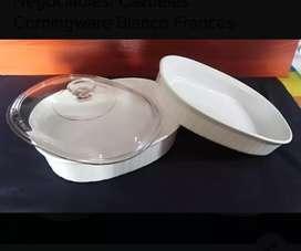 Cazuelas Corningware Blanco Francés (Negociables)