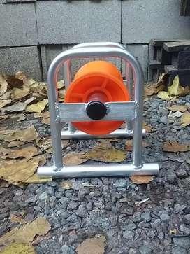 Rodillo recto para tendido de cable subterráneo
