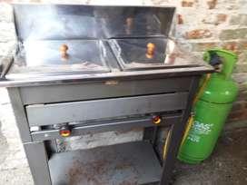 Vendo fritador y pipa de gas