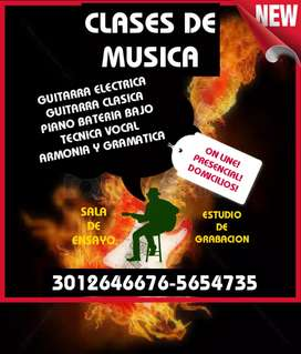 CLASES DE GUITARRA PIANO BATERÍA CANTO