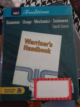Grammar Warriners Handbook – Fourth Course $7