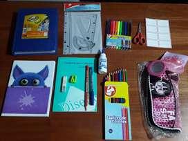 Set de útiles escolares