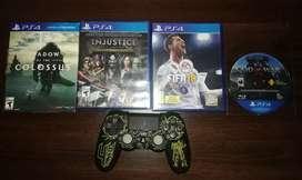 Pack 4 juegos ps4 + mando ps4 v2