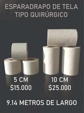 ESPARADRAPO DE TELA TIPO QUIRÚRGICO