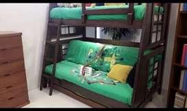 Camarote en L segunda cama semidoble, se entregan con colchón .