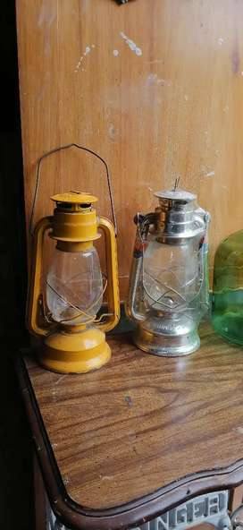 Antiguo lamparines de mecha