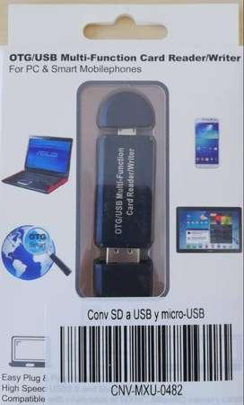 Adaptador Otg Usb 2.0 Multi Lector De Memoria Micro Sd Y Sd
