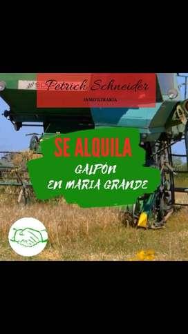 SE ALQUILA GALPÓN EN MARÍA GRANDE(PARANÁ- ENTRE RÍOS)