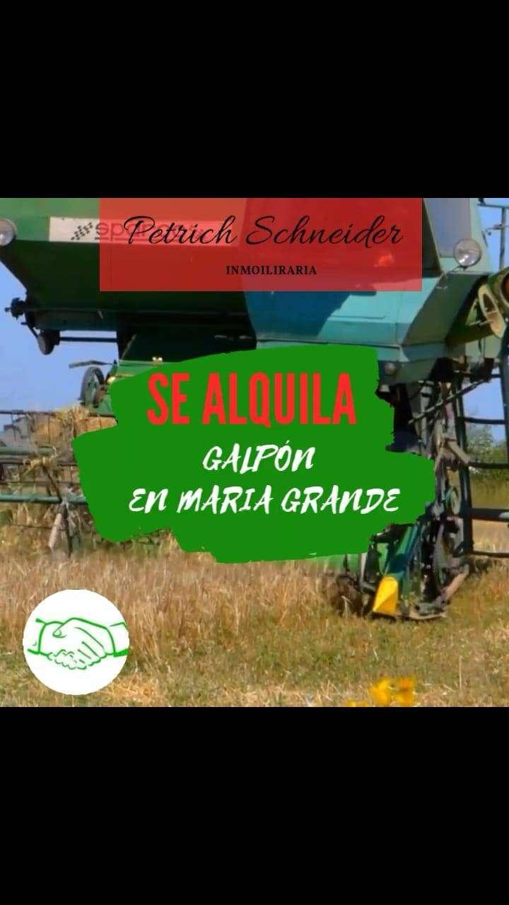 SE ALQUILA GALPÓN EN MARÍA GRANDE(PARANÁ- ENTRE RÍOS) 0