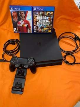 PS4 Slim 1 Terabait excelente estado