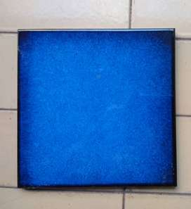 Baldosas Made in Italy . Azul marino + Borde negro . Brillante . Importadas Lote x 9 uni.
