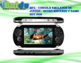 Mp5 Consola Emulador de Juegos Retro Nintendo Y Game Boy - 8gb