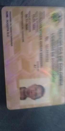 Me ofresco como conductor tengo 27 años responsable licencia sin conparendos