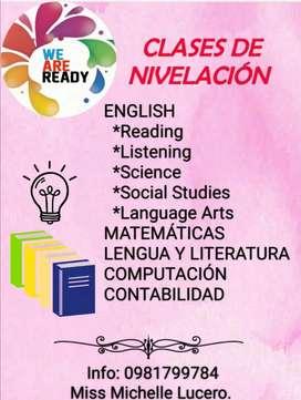 Clases de nivelación,  supervisión de clases online
