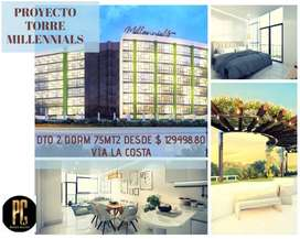 Venta proyecto Torre Millennials  departamentos 2 dormitorios, via a la Costa  2