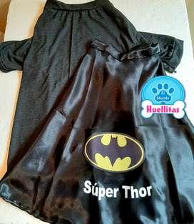 Traje de Batman y Batichica para perros y gatos