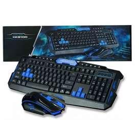 Combo Teclado y Mouse Inalambricos HK8100