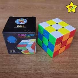 Gem Cubo Rubik 3x3 Textura Shengshou Speedcub-stickerless