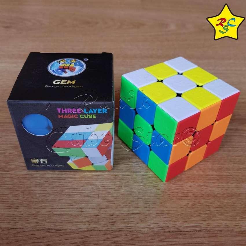 Gem Cubo Rubik 3x3 Textura Shengshou Speedcub-stickerless 0