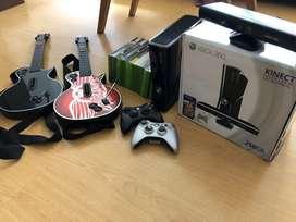 Xbox360 + kinect + controles guitarra