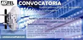 IGTEL SAC, empresa de telecomunicaciones, busca incorporar personal te