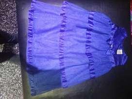 Vestido azul  marca GYMBOREE T4