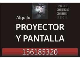 ALQUILER PROYECTOR Y PANTALLA 100 pulgadas
