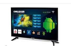 TELEVISOR DE 32 PULGADAS CHALLENGER SMART BLUETOOTH WIFI TDT2 ANDROID YOUTUBE NETFLIX NUEVO FACTURA Y GARANTÍA DE 18 MES