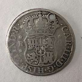 Moneda mecico 2 reales año 1770