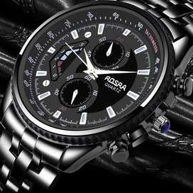 Reloj de cuarzo para hombre en acero inoxidable