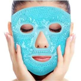 Mascara fácial con perlas de gel frío caliente