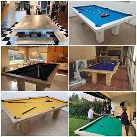 Mesa de pool con accesorios oferta